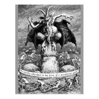 Witches and the Devil Postcard