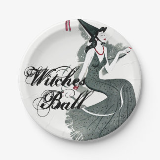 Witches Ball Paper Plates