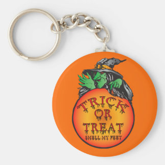 Witches Ball - Trick or Treat Ball Basic Round Button Key Ring