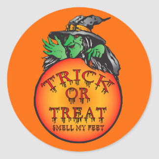 Witches Ball - Trick or Treat Ball Round Sticker