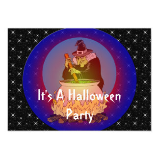 "Witches Brew For You Too 5"" X 7"" Invitation Card"
