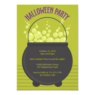Witches Brew Halloween Party Card