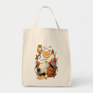 Witches Brew Vintage Halloween Tote Bag