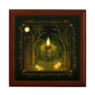 Witches gathering box large square gift box