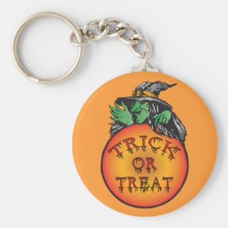Witches Halloween Ball Basic Round Button Key Ring