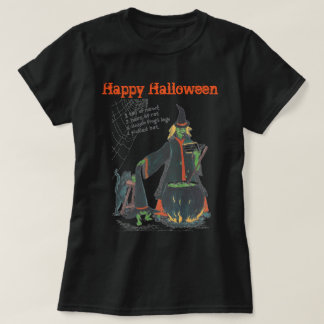 Witches Halloween Brew Scary Designed T-Shirt
