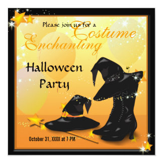 Witches Halloween Enchanting Witch Invitation