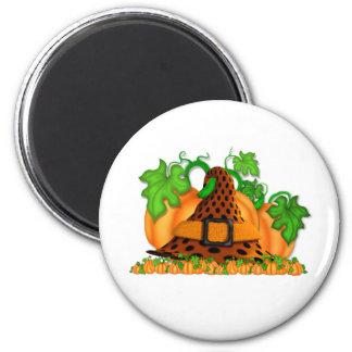 Witches Hat 6 Cm Round Magnet