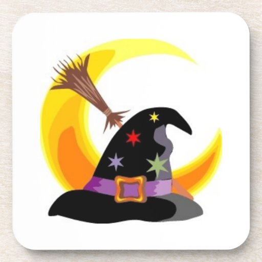 Witches Hat Drink Coaster