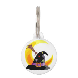 Witches Hat Pet Name Tag