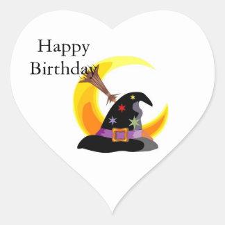 Witches Hat Heart Sticker