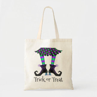 Witches Legs Trick or Treat Budget Tote Bag