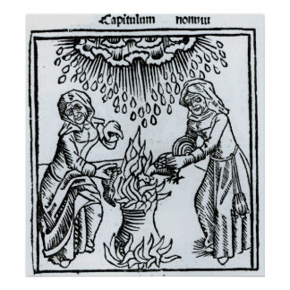 Witches Making a Spell, 1489 Poster