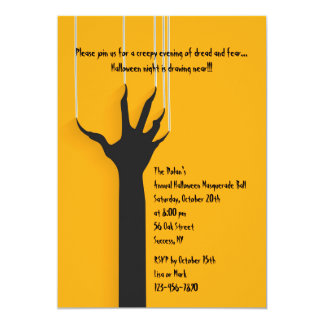 Witches' Mark Halloween Party Invitation