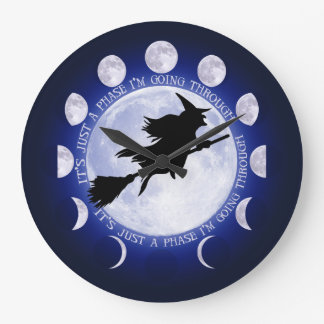 Witches Moon Phase Large Clock