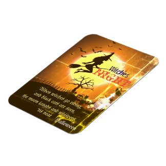 Witches Night, Halloween Magnet