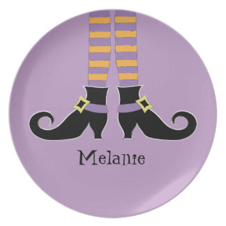 Witches Shoes melamine plate
