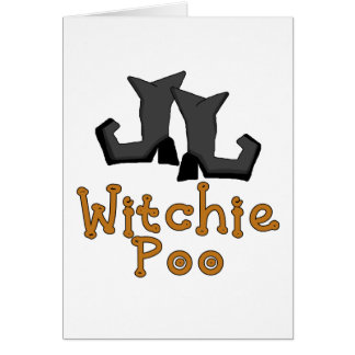 Witchie Poo T-shirts and Gifts Greeting Cards