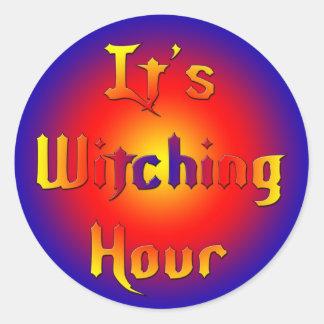 Witching-Hour Classic Round Sticker
