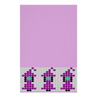 Witchipoo Beaded Pattern Motif Stationery Paper