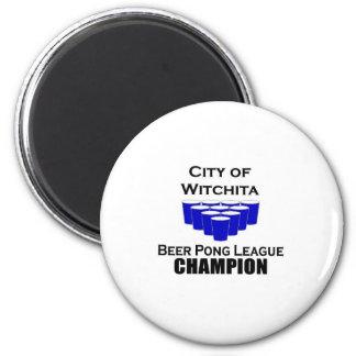 Witchita Beer Pong Champion Refrigerator Magnets