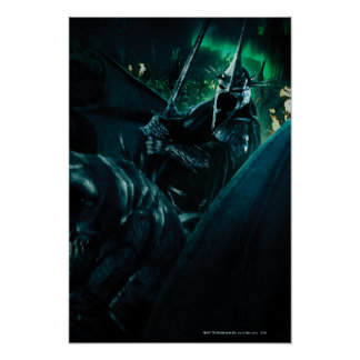 Witchking with sword poster