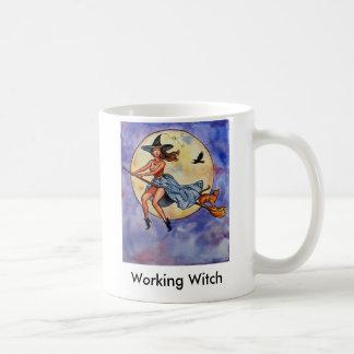 WitchRavenCatfly1, Working Witch Coffee Mug