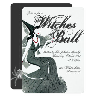 Witch's Ball Invitation