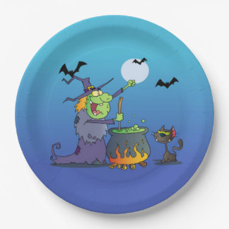 Witch's Brew Halloween Party Paper Plates