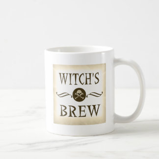 Witch's Brew Vintage Label Halloween Party Props Mugs