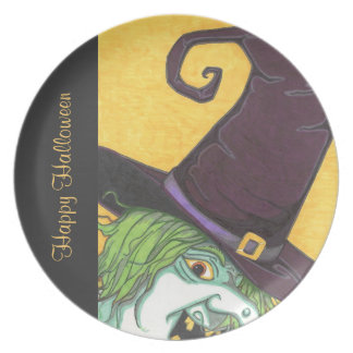 Witch's Glare Halloween Plate