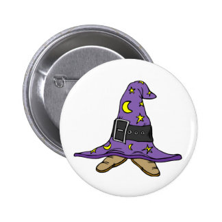 Witch's Hat and Shoes 6 Cm Round Badge