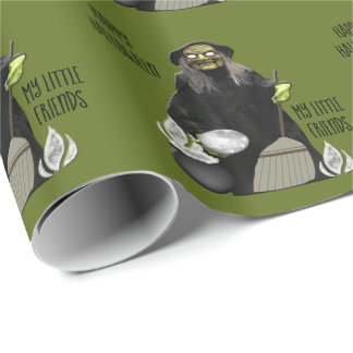 Witch's Rainee Brew Wrapping Paper
