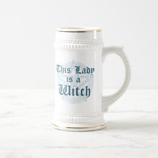 Witch's Slogan and Magick Pentacle Beer Stein