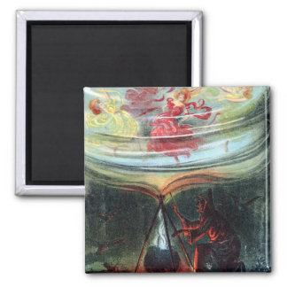 Witch's Whirl Waltzes Square Magnet
