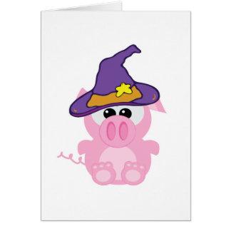 witchy goofkins piggy pig card