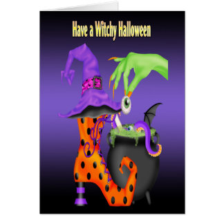 Witchy Halloween Greeting Cards