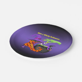 Witchy Halloween Paper Party Plate 7 Inch Paper Plate
