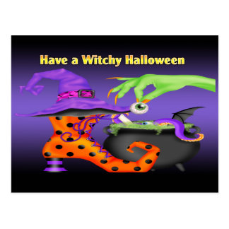 Witchy Halloween Postcard