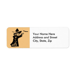Witchy Halloween Return Address Label