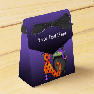 Witchy Halloween Tent Favor Box Favour Boxes