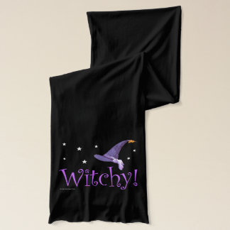 Witchy Pointed Hat Design American Apparel Sheer Scarf