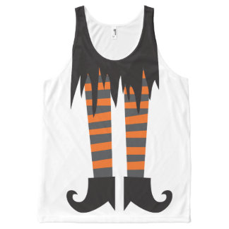 Witchy Woman Funny Halloween All-Over Print Singlet