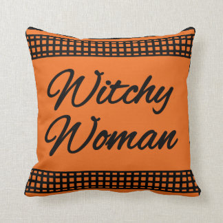 Witchy Woman Halloween Pillow