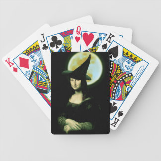 Witchy Woman Mona Lisa Halloween Poker Deck
