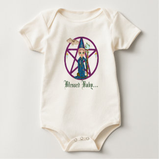 Witchy Woman Penctacle Pixel Art Baby Bodysuit