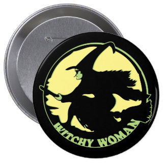 Witchy Woman Pinback Buttons