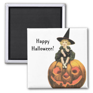 Witchy Woman Vintage Halloween Fridge Magnets