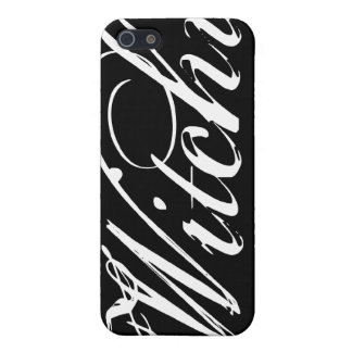 Witchy (YOU choose your background color) iPhone 5 Cases