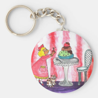 With a cherry on top! basic round button key ring